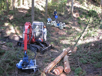 林業の実践体験